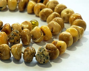 BUTTERSCOTCH AMBER BEADS Raw Healing Amber Beads Genuine Natural Amber Necklace Estate Old Amber Beads Unique Holiday Gift Ideas For Her