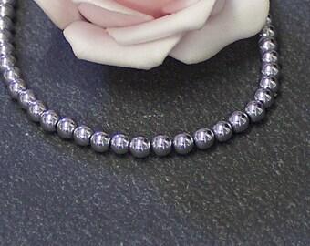 x 40 round 4 mm PG72 non magnetic hematite beads