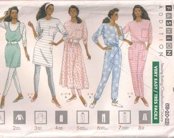 Butterick 4471 dressmaking pattern, Misses' dress top jumper skirt pants leggings Sewing pattern, 18 20 22, 80s eighties 1980s vintage retro
