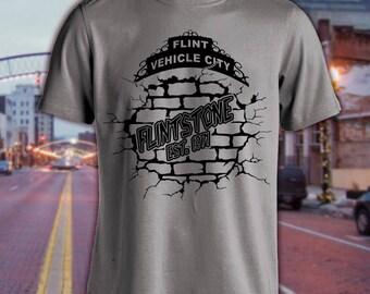 "Flint Michigan-""Flintstone"" Shirt Est. (Choose Your Year)"