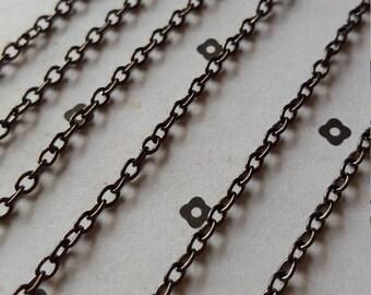 10 FT. Gunmetal chain 3x4mm