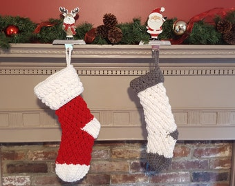 Custom Crochet Christmas Stocking - Christmas Stocking - Christmas Decoration - Crochet Stocking - Christmas in July - Personalized Stocking