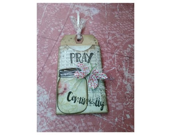 Pray - Bookmark, Bookmarkers, Hang Tag