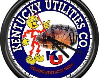 Reddy Kilowatt Kentucky Utilities Company Power Service Sales Electrical Electrician Tools Repair Sign Wall Clock