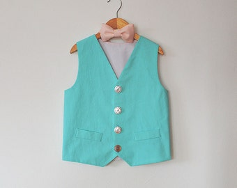 Pastel Vest and Bow Tie Set
