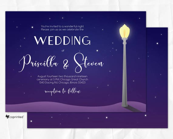 Chicago Themed Wedding Invitations: La-La Land Movie Theme Wedding Invitation Chicago Wedding