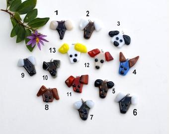 Fused glass dog pendant