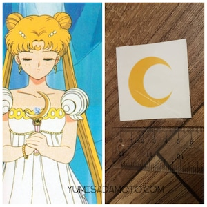 Sailor Moon , moon temporary tattoo for cosplay costume or party usagi WITH DEFFECT