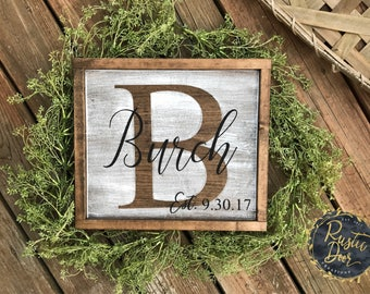 Initail Wood Sign | Farmhouse Sign | Fixer Upper Inspired Sign
