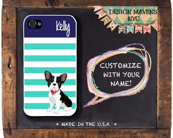 French Bulldog iPhone Case, Personalized Dog iPhone Case, Dog Phone Case, iPhone 4, 4s, iPhone 5, 5s, 5c, iPhone 6, 6s, 6 Plus, Phone Cover