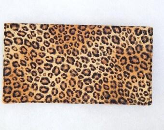 Checkbook Cover - Leopard print