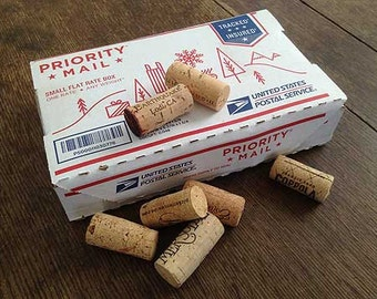 60 Wine Corks in Flat Rate Box