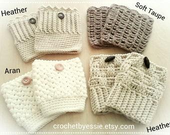 Crochet Boots Cuffs = 4 Choices