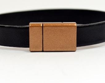 10mm Flat Lightweight Acrylic Clasps - Bronze