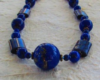 All Natural Blue Lapis Lazuli Necklace