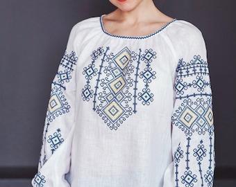 Vyshyvanka, ukranian blouse, embroidered blouse, embroidered linen blouse, ukrainian clothing