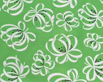 Katie Jump Rope Ribbon Flower Fairway green original release Denyse Schmidt Fat Quarter or more