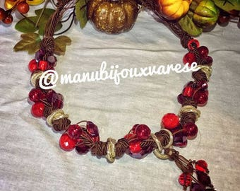 """Made in Italy necklace """"Foggia"""" Rossa by ManuBijoux"""