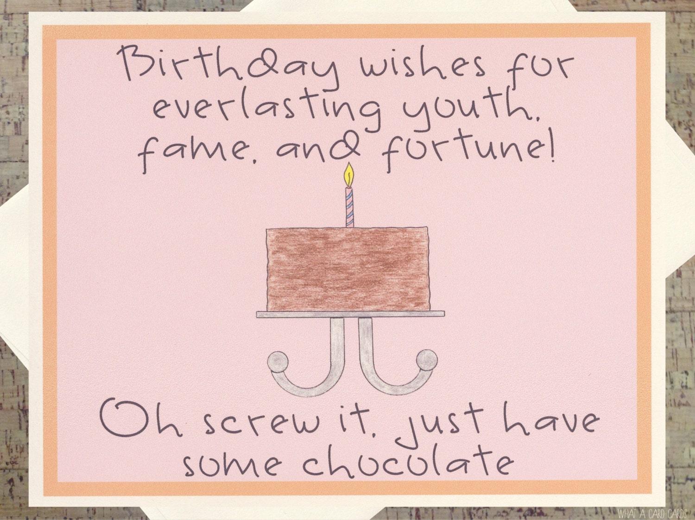 Funny birthday card birthday cake card chocolate card zoom bookmarktalkfo Choice Image