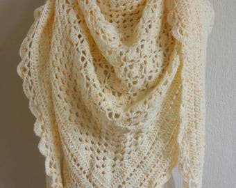 Cornhusk yellow shawl