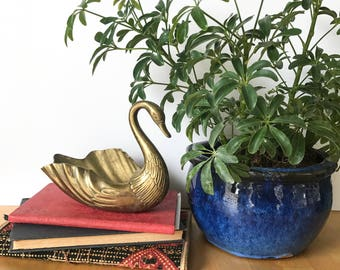 Vintage Brass Swan, Brass Dish, Swan Figurine, Brass Figurine, Swan Dish, Boho Decor, Mid Century Decor, Vintage Decor,  Bird Decor