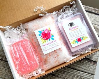 Grapefruit Gift Set . Galentines Day Gift . Valentines Day Gift . Spa Gift Box . Gift for Mom . Bridesmaid Gift . Best Friend Birthday Gift