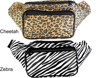 Fanny Pack Animal Print - Cheetah and Zebra by SoJourner Bags