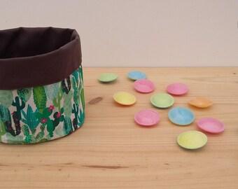 cactus - cacti - reversible basket basket - storage