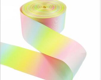 "Pastel Rainbow Ribbon grosgrain/ 3"" ,2"" , 1.5"" ,1""  Ribbon // Pastel Rainbow Double Sided Ribbon grosgrain//Pastel  Rainbow Ribbon grosgrain"