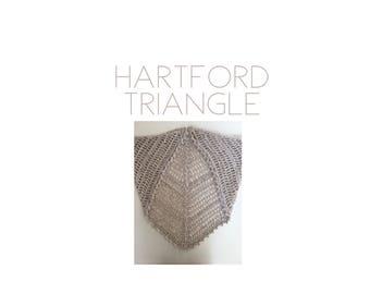Hartford Triangle | Crochet Scarf | Crochet Triangle Scarf | Triangle Scarf | Crochet Bandana Scarf | Crochet Bandana | Shawl | Crochet Shaw