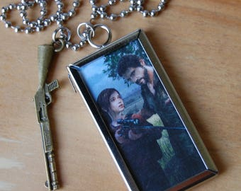 Last of us Inspired Joel and Ellie Necklace, Double Sided