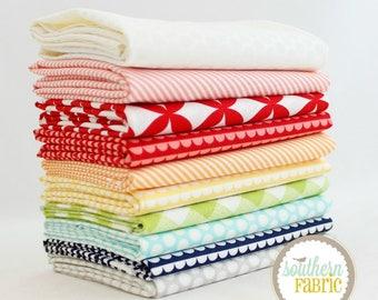 "Basics - Fat Quarter  Bundle - 10 - 18""x21"" Cuts - Bonnie and Camille - Moda Quilt Fabric"