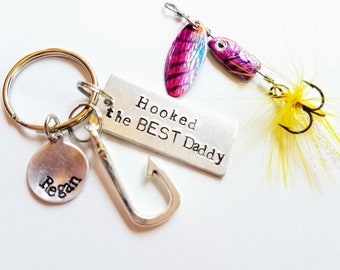 Fathers day gift Fishing lure key chain Fathers Day fishing Papa gifts Papa Fishing Lure Father gift Father day fishing keychain