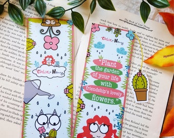 Chloe & Henry Plants quotes  bookmark handmade