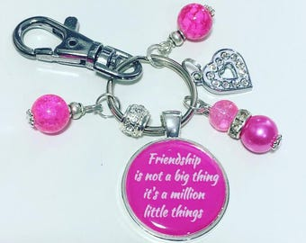 Friend gift, gift for friend, Friendship is not a big thing it's a million little things
