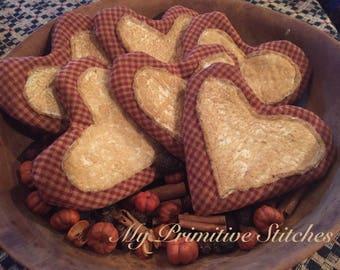 Primitive cookie heart bowl fillers