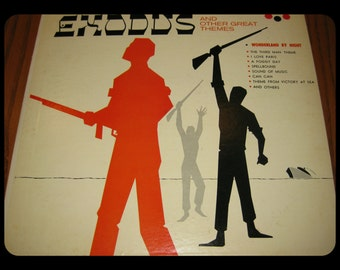 Vintage 1956 The Theme from EXODUS, Victory At Sea & Other Great Themes Record Album Sleeve Stradavari Retro Vinyl COVER ONLY! Retro Theater
