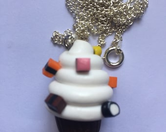 Licorice Allsorts Cupcake Necklace