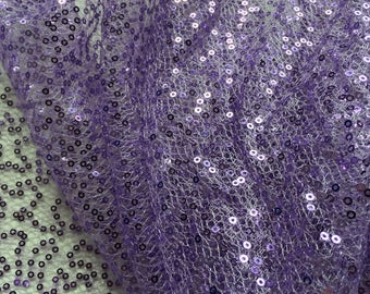 Lilac Sequin on net