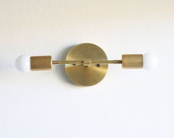 Unfinished Brass Wall Sconce  light, Raw Brass Wall Sconce  light