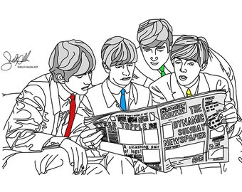 The Beatles Vector Art Illustration - PVC Board or Poster Print