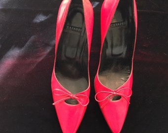 Casadei Red Leather Pumps.