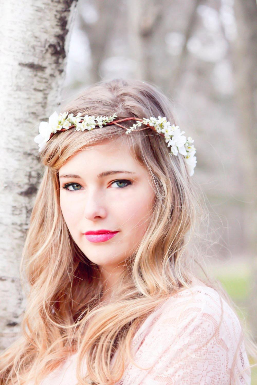 bridal hair acessories wedding headpiece woodland flower