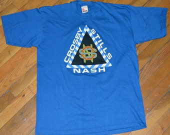1987 CROSBY STiLLS & NaSH vintage concert 1980's ToUR rare rock t-shirt (XL) CSNY David Steven Graham 80's C-S-N Neil Young vtg tee tshirt