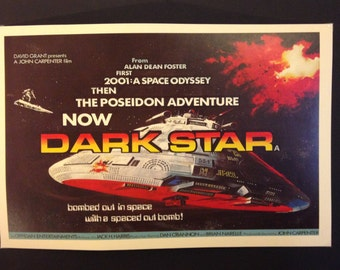 """Dark Star 12x18"""" Movie Poster // John Carpenter // 1974 // Science Fiction Comedy // Spaced Out Odyssey //"""