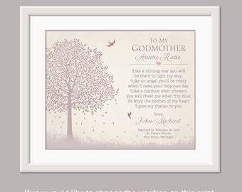 Godmother Gift - Gift For Godmother - Gift From Godchild Godson Goddaughter - Godparent Gift Godmother - Godmother Poem Dedication