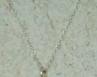 Cubic Zircona Amethyst Gemstone Bezel Pendant Necklace, Sterling Silver Fine Chain.