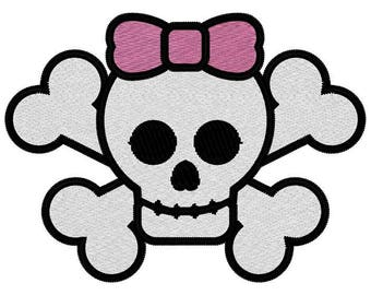 Cute Skull Embroidery File