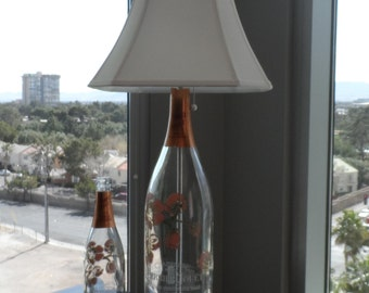 PJ ROSE bottle Lamp Perrier Jouet Belle Epoque 3L & 1.5L MAGNUM