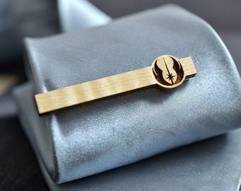 Pince à cravate Star Wars - barre de liaison bois d'érable ordre JEDI